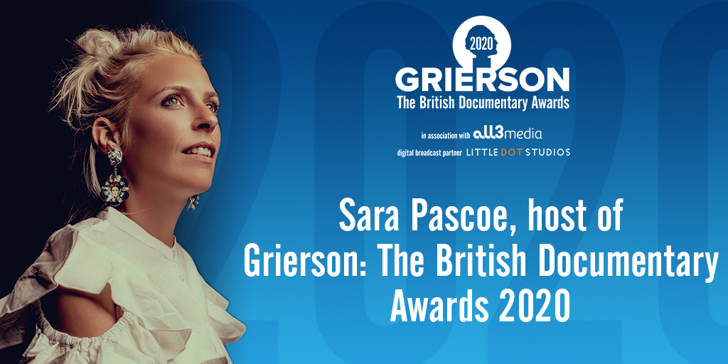 About Sara Pascoe, host of the 2020 Griersons